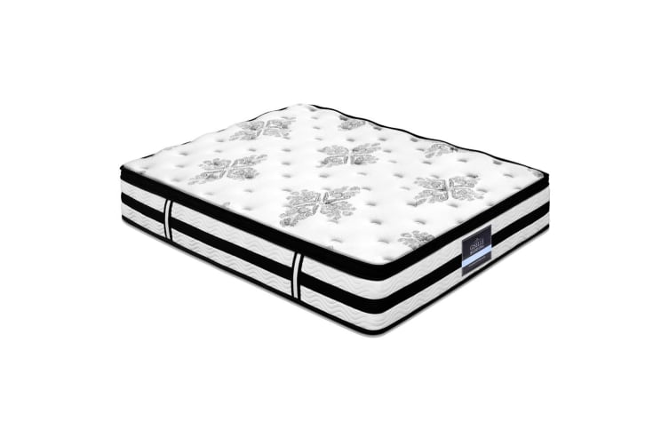 QUEEN Mattress 34CM Euro Top Pocket Spring Firm Plush Foam Bed