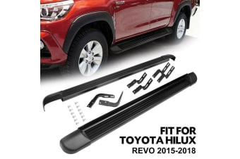 BUNKER-INDUST Steel Side Steps for Toyota Hilux Dual Cab 2015 - Current model