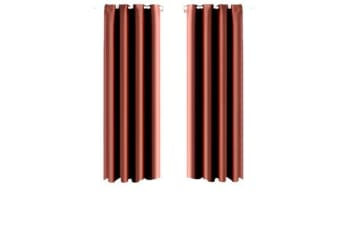 1 Pair Blockout Curtains Panels CHOCOLATE 140X160cm