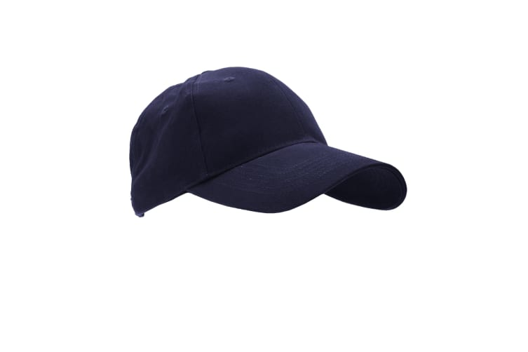 Anvil Unisex Brushed Twill Baseball Cap / Headwear (Pack of 2) (Navy) (One Size)