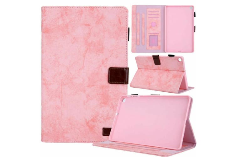 For Galaxy Tab A 10.1(2019)T510/T515 Tablet Flip leather Stand Cover Case-Pink