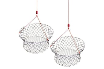 2 X Wilson Ready Rigged Wire Bottom Crab Nets- 2 Rings With Float And Rope