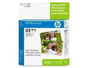 HP genuine #02 Series Ink Cartridge Black Cyan Light Cyan Light Magenta Magenta Yellow 6-inks