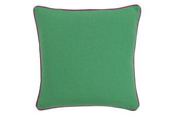 Paoletti Bamboo Cushion Cover (Emerald/Fuchsia)