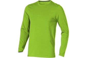 Elevate Mens Ponoka Long Sleeve T-Shirt (Apple Green) (S)