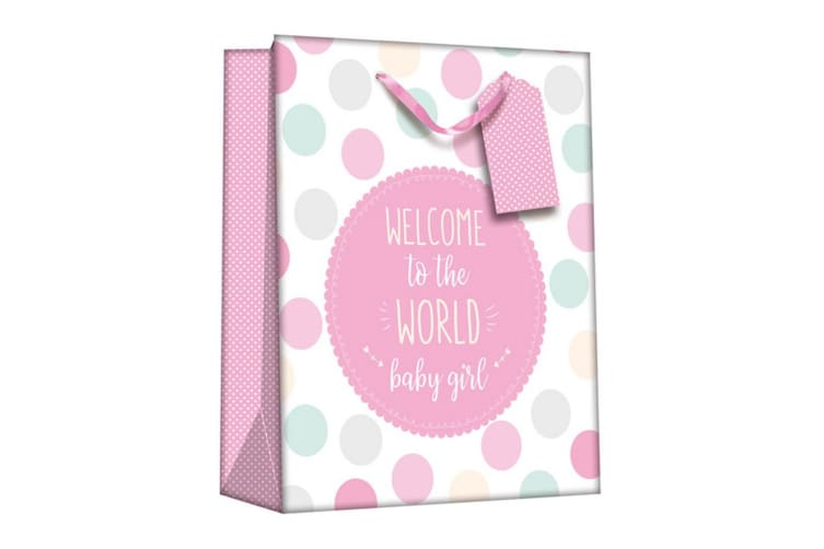 Iparty Baby Shower Gift Bags (Pack Of 6) (Baby Girl) (One Size)