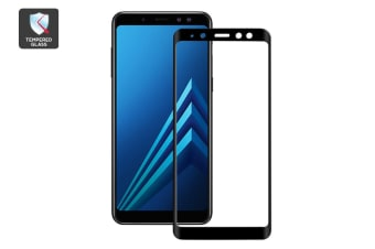 Samsung A8 Curved Edge 3D Full Cover Tempered Glass Screen Protector