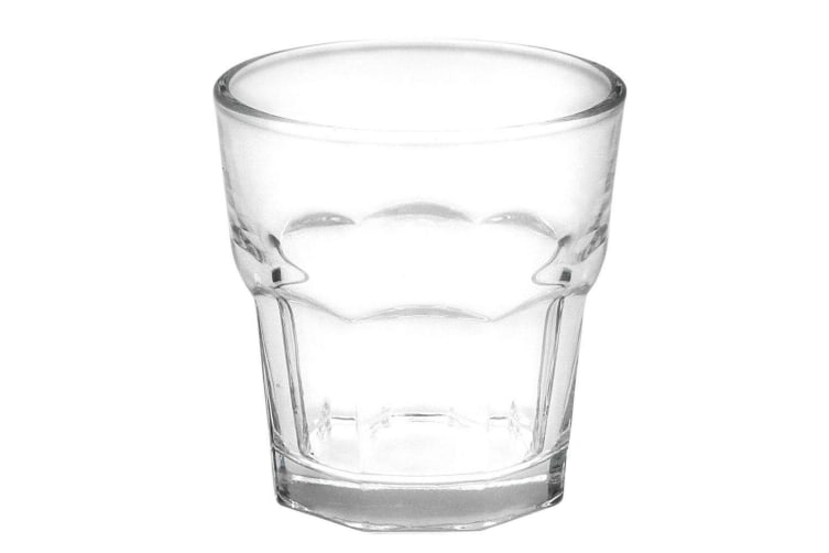 4 x 250ml Clear Glass Tumblers Drinking Cup Scotch Whisky Glasses Party Event M