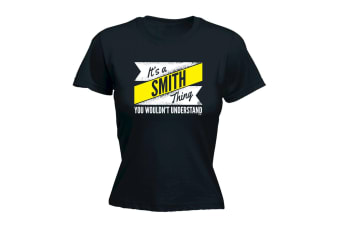 Its a Surname Thing Funny Tee - Smith V2 Surname Thing - (X-Large Black Womens T Shirt)