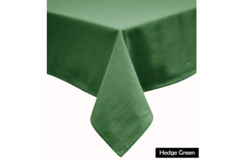 Cotton Blend Table Cloth 180cm Round - HEDGE GREEN