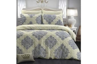 Park Avenue Microfiber Pinsonic Quilted Quilt cover set Super King Victoria - Reversible