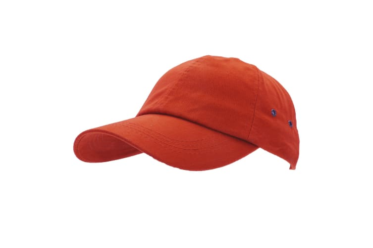 Result Unisex 100% Plush Finish Baseball Cap (Pack of 2) (Red) (One Size)