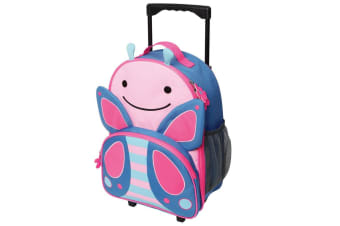 Skip Hop Zoo Kid Rolling Luggage - Butterfly