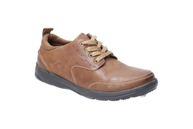 Hush Puppies Mens Apollo Lace Up Leather Shoe (Brown) (10 UK)