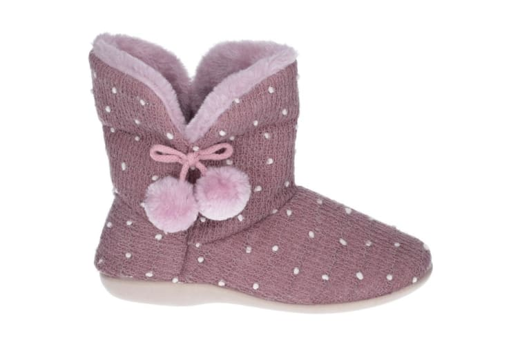 Fleet & Foster Womens/Ladies Vancouver Slip On Boot Slippers (Lilac) (4 UK)