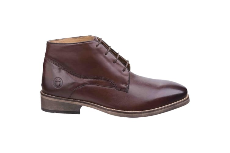 Cotswold Mens Maugesbury Lace Up Leather Oxford Casual Ankle Boots (Dark Brown) (7 UK)