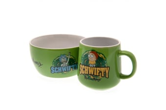 Rick And Morty Breakfast Set (Multicolour)