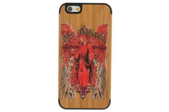 For iPhone 6S 6 Case Bishop Pattern High-Quality Modern Wooden Shielding Cover