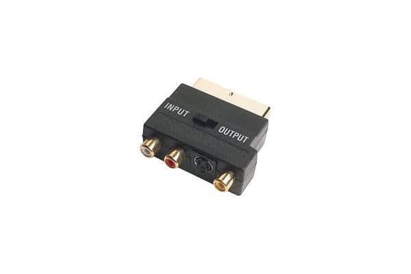 Pro2 Scart Plug To Rca & S-Video