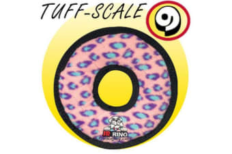 VIP Tuffy Jr Ring Dog Toy (Pink Leopard)