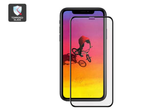 iPhone XR 3D Gummed Full Cover Tempered Glass Screen Protector