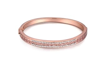 Destiny Bangle w/Swarovski Crystals-Rose Gold/Clear