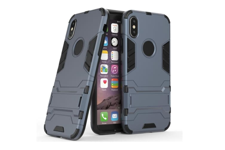 Full-Armoured Protective Case Of Steelman Stealth Bracket Phone Case For Iphone Blue Black Iphone 5S/5C/Se