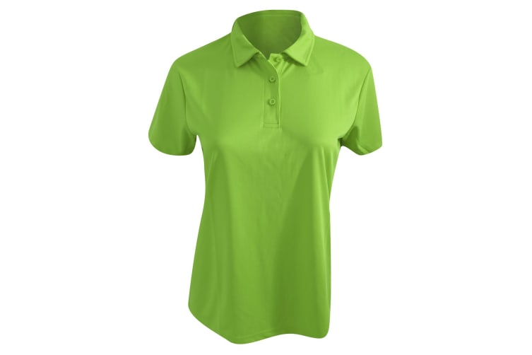 AWDis Cool Womens Girlie Cool Polo / Polos / Womens Fashion / Women (Lime Green) (M)