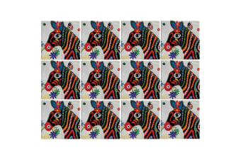 12pc Maxwell & Williams Smile Style Ceramic Tile Coaster Stripes 9cm Placemat