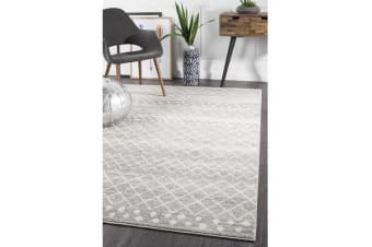 Amelia Grey & Bone Ivory Diamond Durable Rug