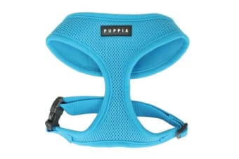 Puppia Soft Mesh Dog Harness Sky Blue - XS