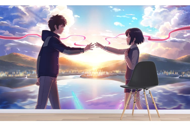 3D Your Name 072 Anime Wall Murals Woven paper (need glue), XXL 312cm x 219cm (WxH)(123''x87'')