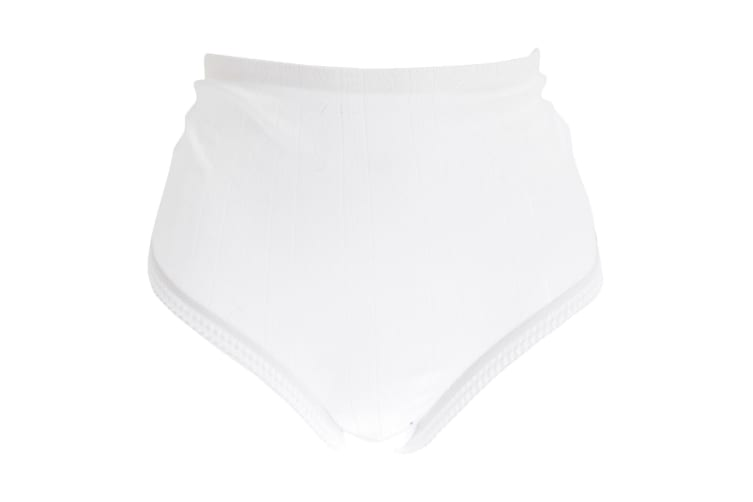 Passionelle Womens/Ladies Jacquard White Cotton Briefs (Pack Of 3) (White) (3XOS)