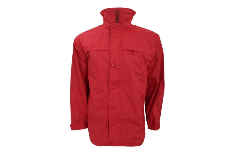 Result Mens Mid-Weight Multi-Function Waterproof Windproof Jacket (Red/Navy) (XS)