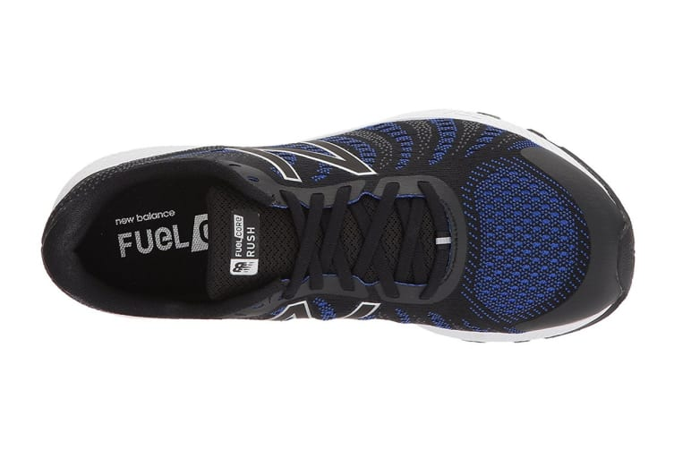 New Balance Women's FuelCore Rush v3 - D Running Shoe (Black/Blue Iris, Size 8)