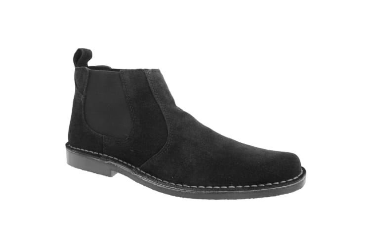 Roamers Mens Real Suede Classic Desert Boots (Black) (8 UK)
