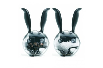 Chef'n Mini Magnetic Salt Pepper Grinder Set Rabbit Ears Refillable Seasoning