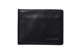 Pierre Cardin Mens Bi-fold Rfid Protected Wallet - Black Italian Leather