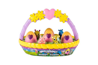 Hatchimals Spring Basket with 6 Hatchimals CollEGGtibles