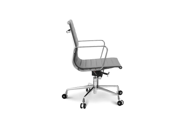 Ovela Executive Eames Replica Low Back Ribbed Office Chair (Grey)