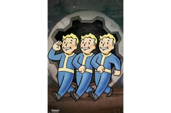 Fallout Vault Boys Poster (Multicoloured) (One Size)