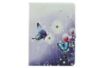 For Samsung Galaxy Tab S2 9.7 SMT810 T815 Case Butterflies Flowers Leather Cover
