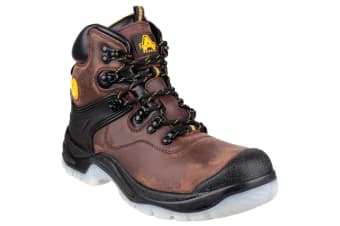 Amblers FS197 Unisex Waterproof Safety Boots (Brown) (9 UK)