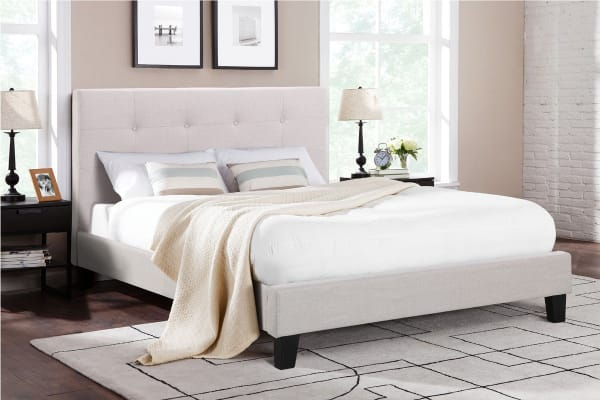 Ovela Bed Frame - Positano Collection (Beige Royal, King)