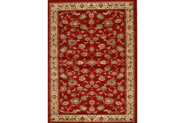 Traditional Floral Pattern Rug Red 290x200cm