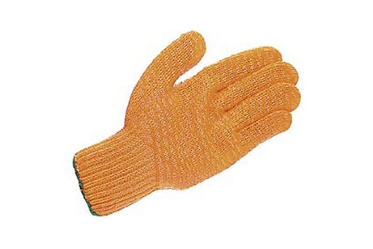Unisex Adults Gloves Criss-Cross (Orange) (Large)
