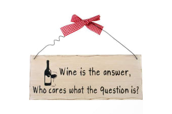 Something Different Wine Is The Answer Hanging Sign (Multicoloured) (One Size)