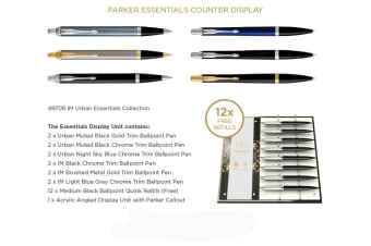 PARKER PEN PARKER XMAS 2019 IM & URBAN COLLECTION & 12 BONUS REFILL ASST DISP12