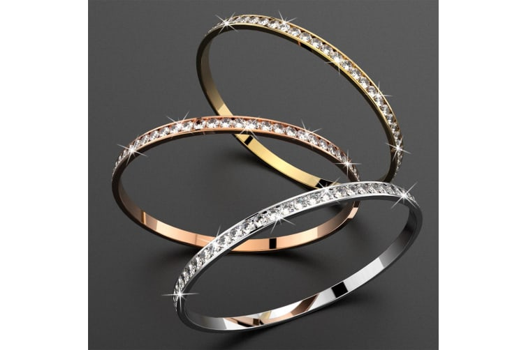 Boxed Classic Bangle and Hoops Set Embellished with Swarovski crystals