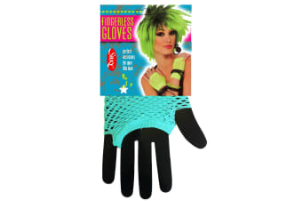 Silky Womens/Ladies Short Fishnet Gloves (1 Pair) (Electric Blue) (One Size)